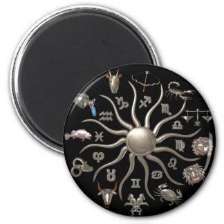 Valxart zodiac Wheel of life 2 Inch Round Magnet