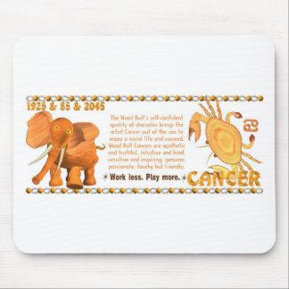 ValxArt Zodiac wood bull born Cancer 1985 1925 Mouse Pad