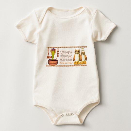 ValxArt Zodiac wood snake born Gemini 1965 2025 Baby Bodysuit