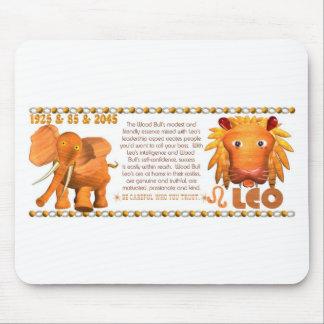 ValxArt Zodiac Yang Leo Wood Bull 1925 1985 Mouse Pad