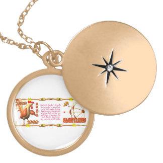 Valxart's 1969 Earth Roster zodiac Sagittarius Round Locket Necklace