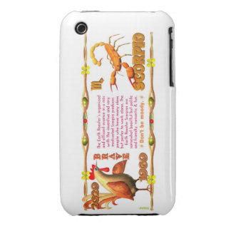 Valxart's 1969 Earth Roster zodiac Scorpio iPhone 3 Covers