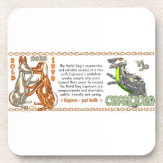 Valxart's 1970 2030 MetalDog zodiac born Capricorn Coaster