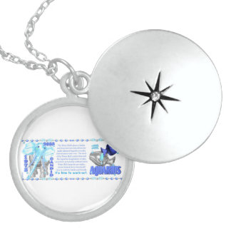 Valxart's 1973 Zodiac  water Bull born Aquarius Round Locket Necklace