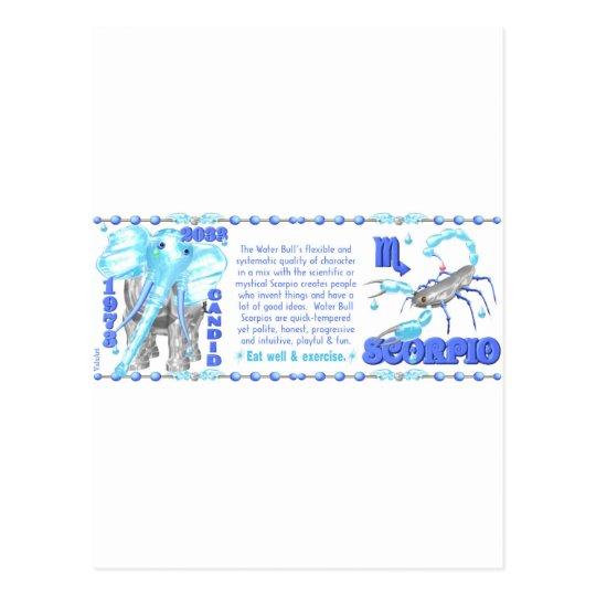 Valxart's 1973 Zodiac  water Bull born Scorpio Postcard