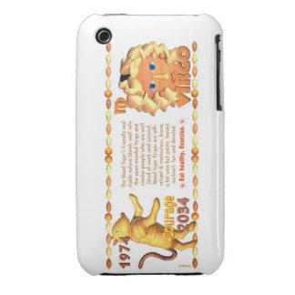 Valxart's 1974 Wood Tiger zodiac born Virgo iPhone 3 Covers