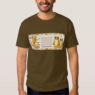 Valxart's 1974 WoodTiger  zodiac born Gemini T-shirt