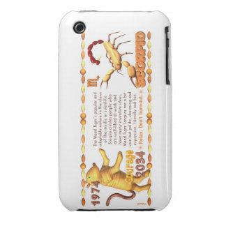 Valxart's 1974 WoodTiger  zodiac born Scorpio iPhone 3 Cover