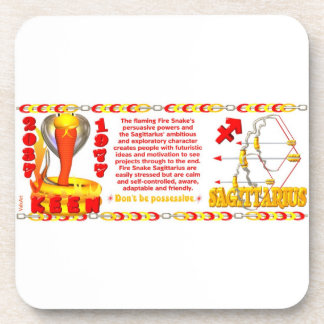 Valxart's 1977 Fire Snake  zodiac born Sagittarius Coaster