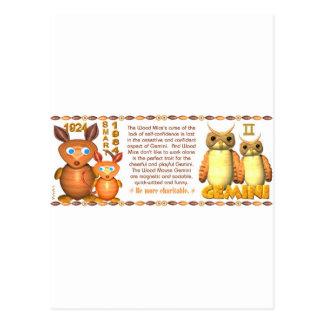 Valxart's 1984 2044 WoodRat zodiac born Gemini Postcard