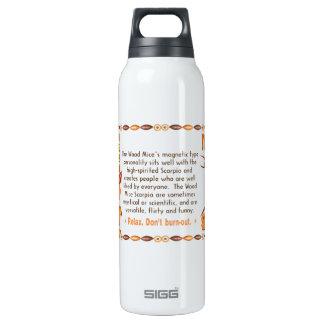Valxart's 1984 WoodRat zodiac born Pisces Insulated Water Bottle