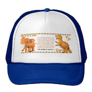 Valxart's 1985 zodiac wood bull born Capricorn Trucker Hat