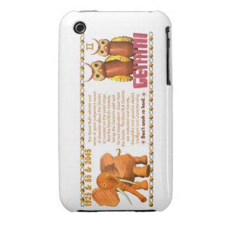 Valxart's 1985 zodiac wood bull born  Gemini Case-Mate iPhone 3 Case