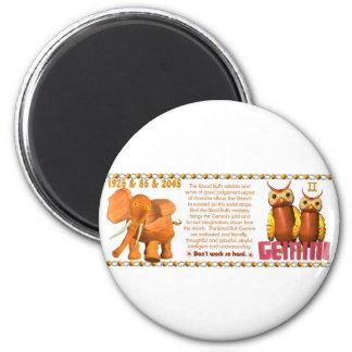 Valxart's 1985 zodiac wood bull born  Gemini Magnet