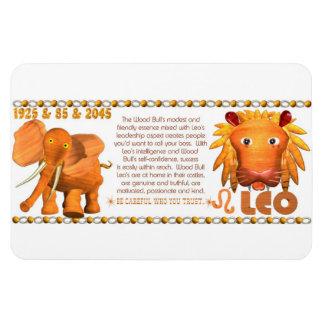 Valxart's 1985 zodiac wood bull born Leo Magnet