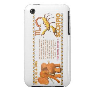 Valxart's 1985 zodiac wood bull born Scorpio Case-Mate iPhone 3 Cases