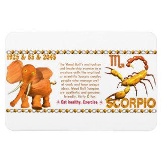 Valxart's 1985 zodiac wood bull born Scorpio Magnet