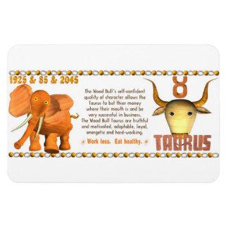 Valxart's 1985 zodiac wood bull born Taurus Magnet