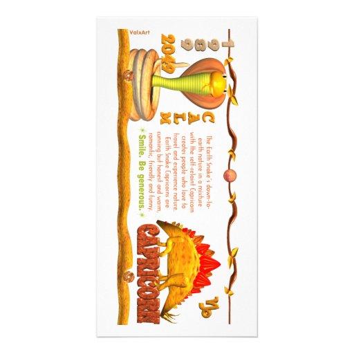 Valxart's 1989 Earth Snake zodiac born Capricorn Photo Card