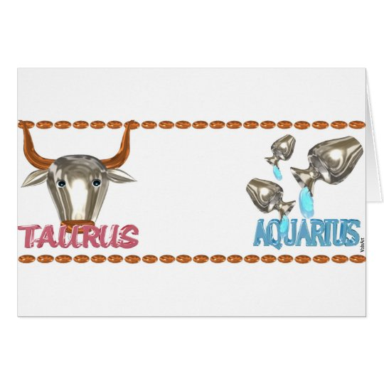 ValxArt's friendship between Taurus Aquarius sign Card