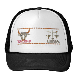 ValxArt's Taurus Libra zodiac friendship design Trucker Hat