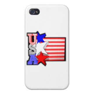 ValxArt's USA red ,white and blue stars iPhone 4/4S Cover