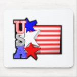 ValxArt's USA red ,white and blue stars Mousepad