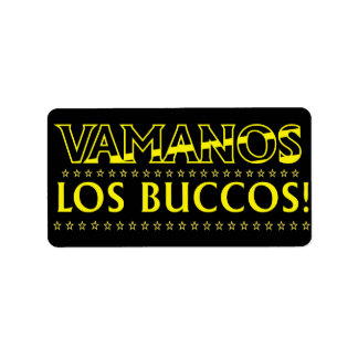 VAMANOS LOS BUCCOS STICKER with Dark Background