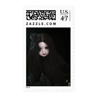 vamipar girl stamp  paper