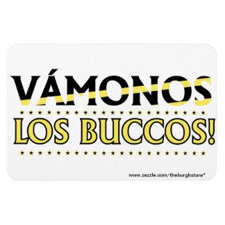 VAMONOS Los Buccos! Magnet! with store address XL Magnet