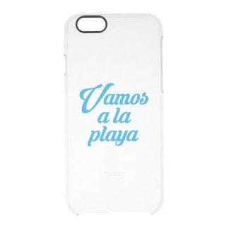VAMOS A LA PLAYA CLEAR iPhone 6/6S CASE