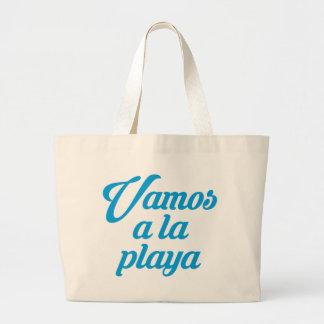 VAMOS A LA PLAYA LARGE TOTE BAG