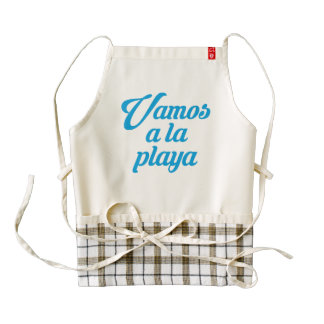 VAMOS A LA PLAYA ZAZZLE HEART APRON