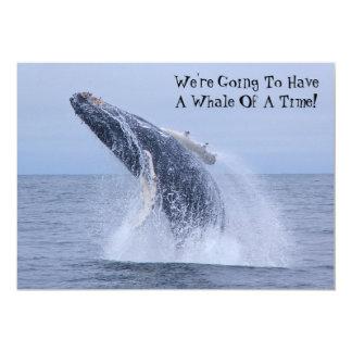 """¡Vamos a tener una ballena de una época! Invitación 5"""" X 7"""""""