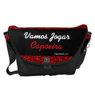 Vamos Jogar Capoeira-Large Messenger Bag