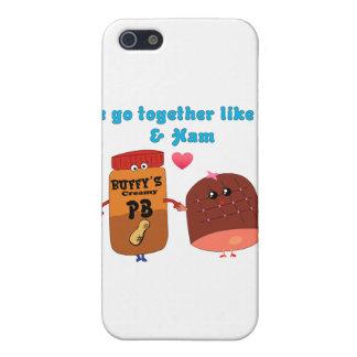Vamos juntos como el PJ y el jamón iPhone 5 Cárcasas