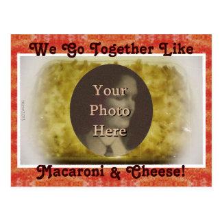 Vamos juntos como imagen de los macarrones y del q tarjeta postal