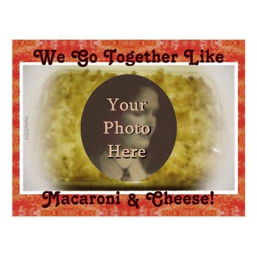 Vamos juntos como imagen de los macarrones y del q tarjetas postales