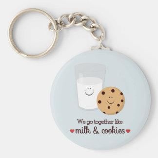 Vamos juntos como la leche y las galletas llavero redondo tipo pin