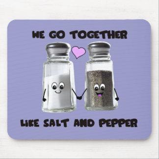 Vamos juntos como la sal y la pimienta tapete de raton