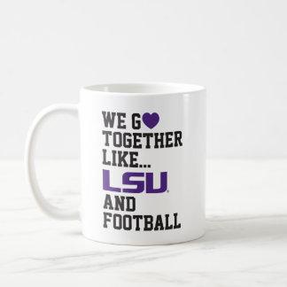 Vamos juntos como LSU y fútbol Taza Clásica
