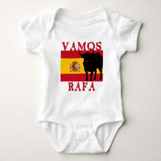 Vamos Rafa con la bandera de España Body Para Bebé