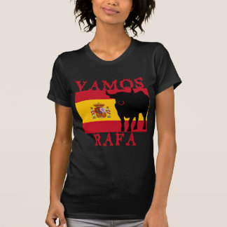 Vamos Rafa con la bandera de España Camiseta