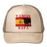 Vamos Rafa con la bandera de España Gorros Bordados