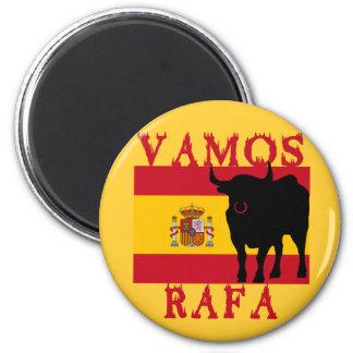 Vamos Rafa con la bandera de España Imán Redondo 5 Cm