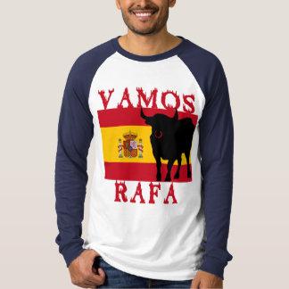 Vamos Rafa con la bandera de España Remeras
