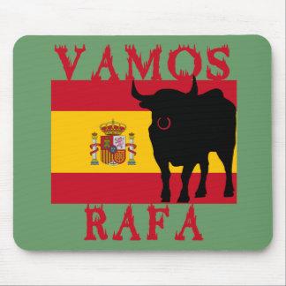 Vamos Rafa con la bandera de España Tapetes De Ratón