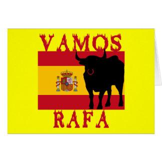 Vamos Rafa With Flag of Spain Greeting Card