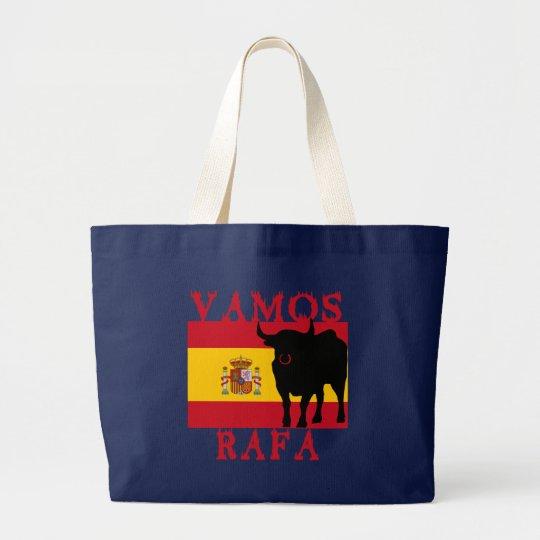 Vamos Rafa With Flag of Spain Large Tote Bag