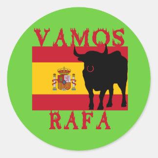 Vamos Rafa With Flag of Spain Round Sticker